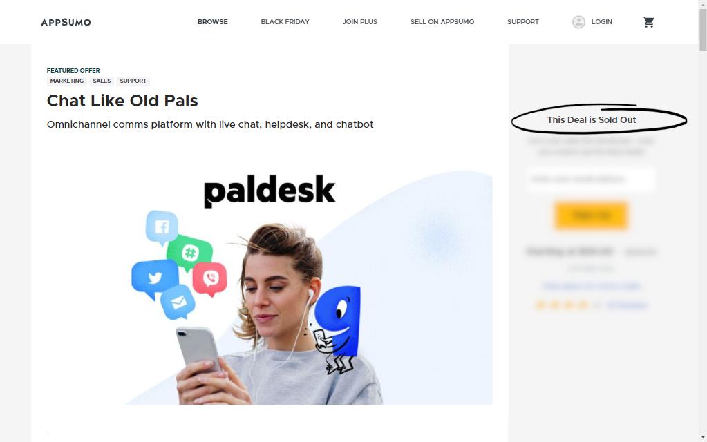 paldesk sold out deal