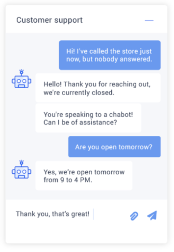 assistant chatbot as an example of orchestration