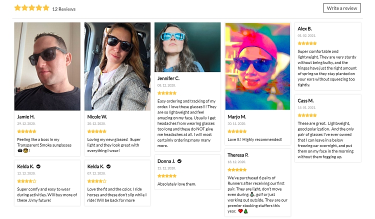 Make use of customer follow up through published reviews
