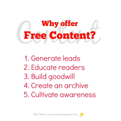 Free content can increase customer success