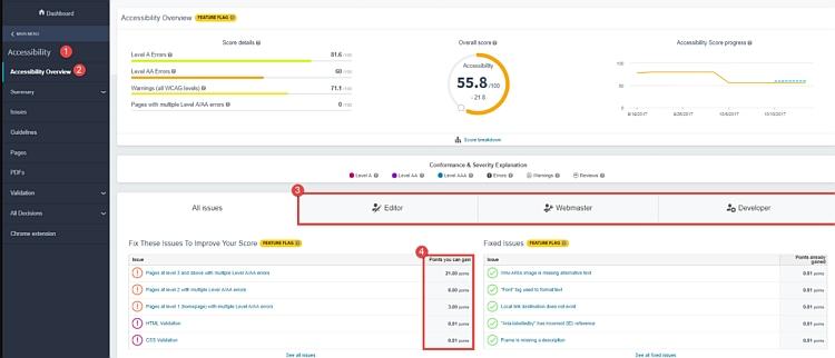 siteimprove web analytics tool